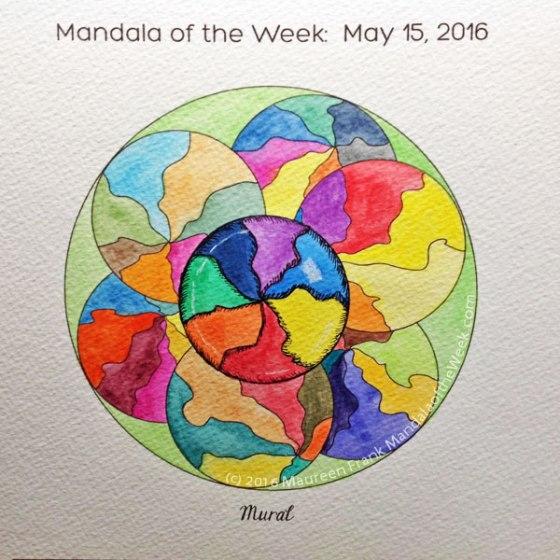 Murals Mandala by Maureen Frank