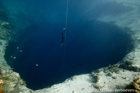 In Dean's Blue Hole - photo by Daan Verhoeven
