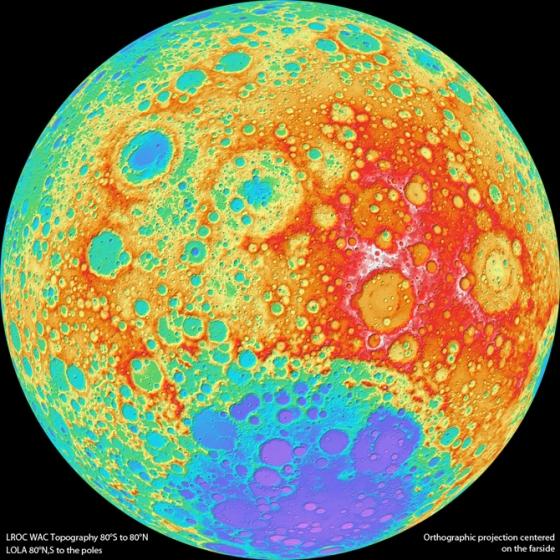 Moon Craters - photo credit: NASA's Goddard Space Flight Center/DLR/ASU