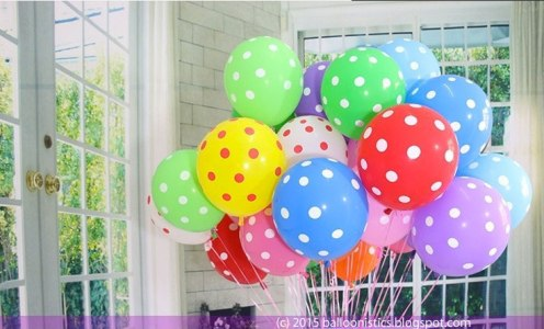 Dotted Balloons - photo by Balloonistics.blogspot.com