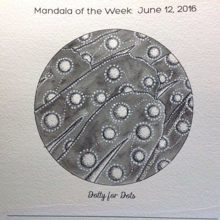 Dotty For Dots Mandala by Maureen Frank