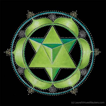 Heart Chakra Mandala by Laural Virtues Wauters