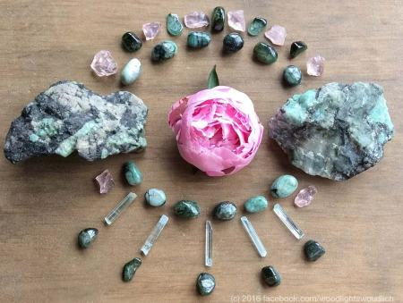 Emeralds and Verdelite by Woodlights Woudlich