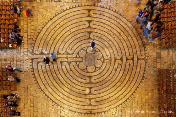 Labyrinth in the Cathedral of Our Lady of Chartres in France
