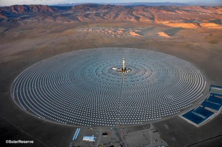 Crescent Dunes Project by Solar Reserve
