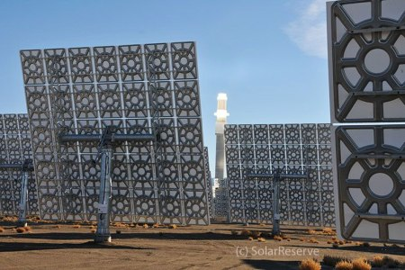 Crescent Dunes Solar Panels - from behind