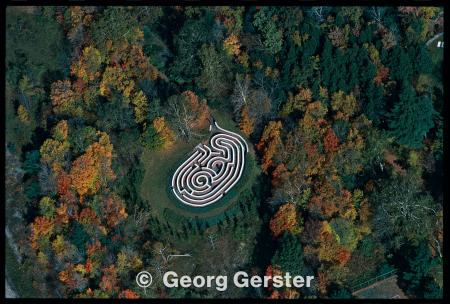 Arkville Maze in NY - photo by Georg Gerster
