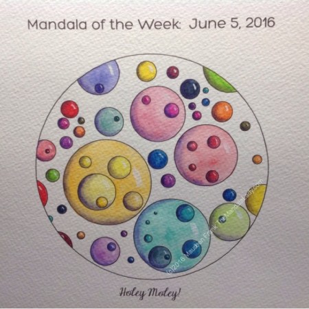 Holey Moley! Mandala in Color by Maureen Frank