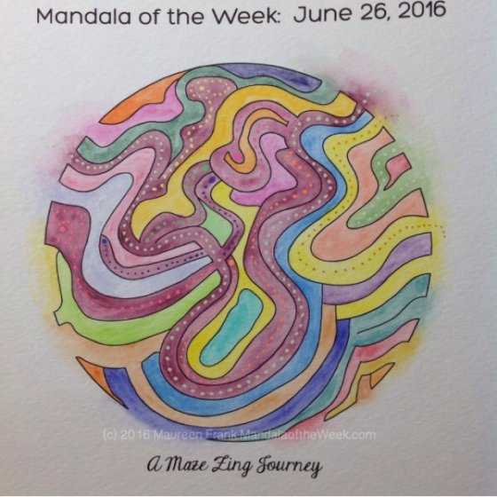 A Maze Zing Journey Mandala by Maureen Frank