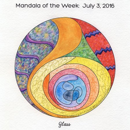 Glass Mandala in color by Maureen Frank