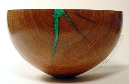 Malachite in Mesquite by Lynne Yamaguchi