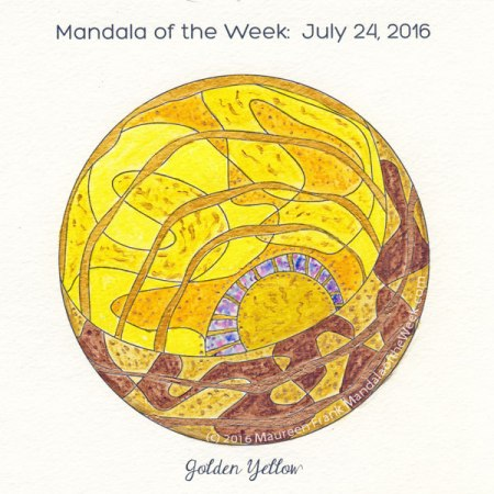 Golden Yellow Mandala by Maureen Frank