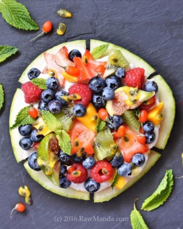 Watermelon Pizza by Raw Manda (Amanda Le)