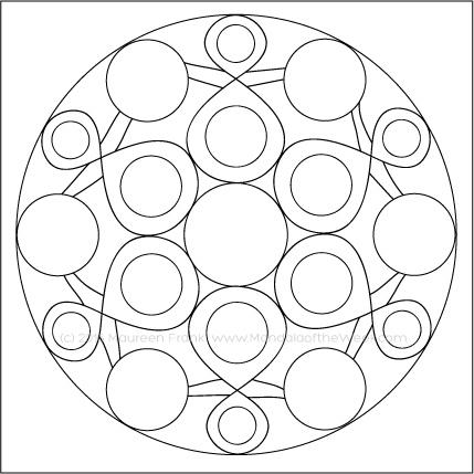 Mandala Artists Mandala by Maureen Frank