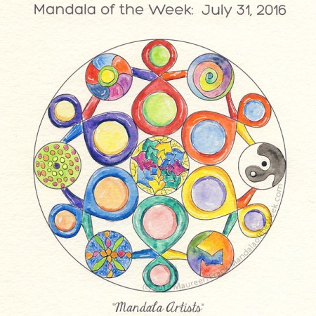 Mandala Artists Mandala by Maureen Frank