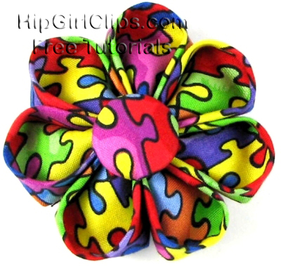 Kanzashi fabric flower by HipGirl