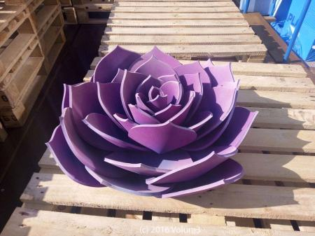 Yoga Mat Flower by Volum3