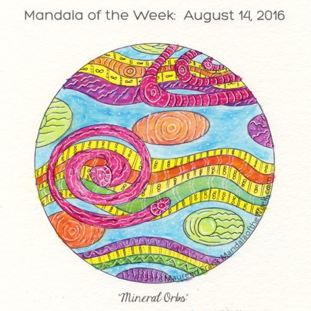 Mineral Orbs Mandala by Maureen Frank
