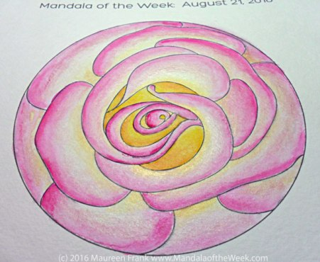 A Rose is a Rose Mandala - angled view