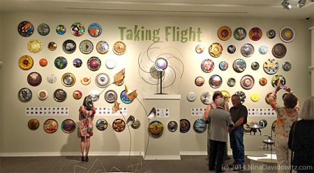 The Hubcap as Art Community Art Show - photo by Nina Davidowitz