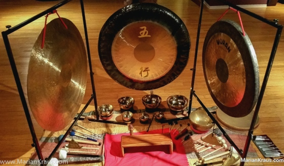 Gongs and Bowls - photo by Marian Krauss
