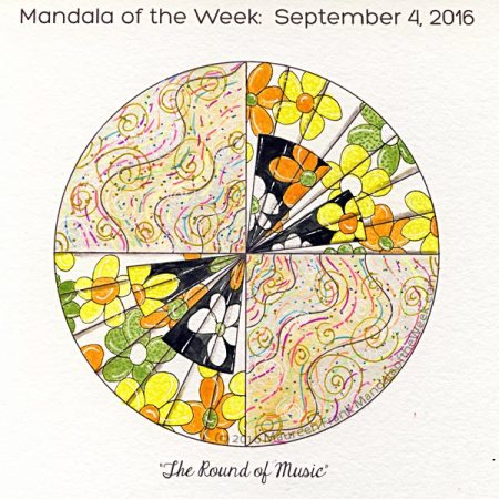 The Round of Music Mandala in color by Maureen Frank