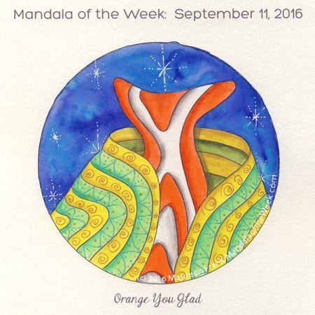 Orange You Glad Mandala by Maureen FrankOrange You Glad Mandala by Maureen Frank
