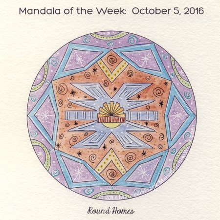 Round Homes Mandala by Maureen Frank (me)