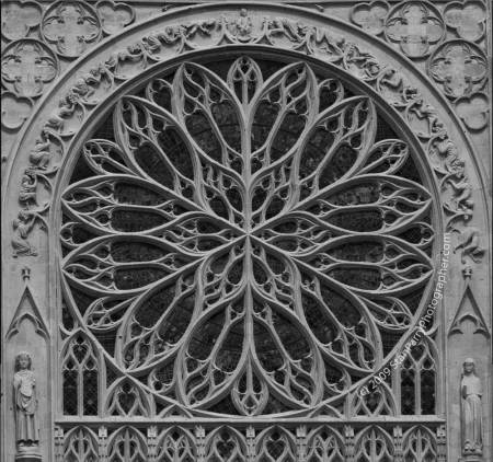 Amiens Cathedral Rose Window - photo by Stan Parry