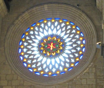 San Lorenzo Rose Window from inside - photo by Laura on Flickr
