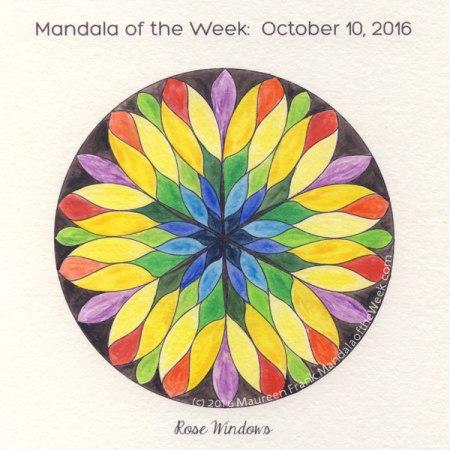 Rose Windows Mandala in Color by Maureen Frank (me)