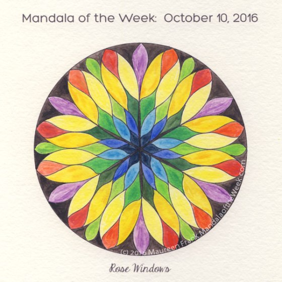 Rose Windows Mandala in Color by Maureen Frank (me)