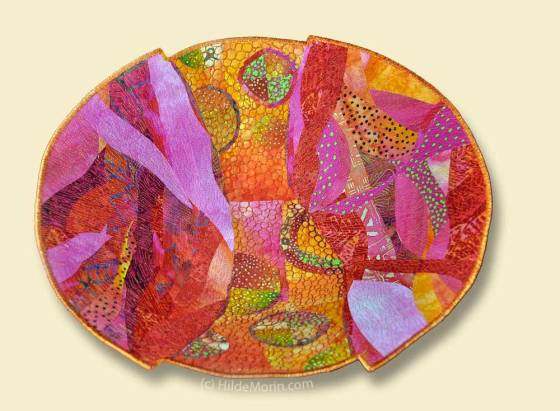 """Blood Orange"" Fabric Bowl by Hilde Morin"