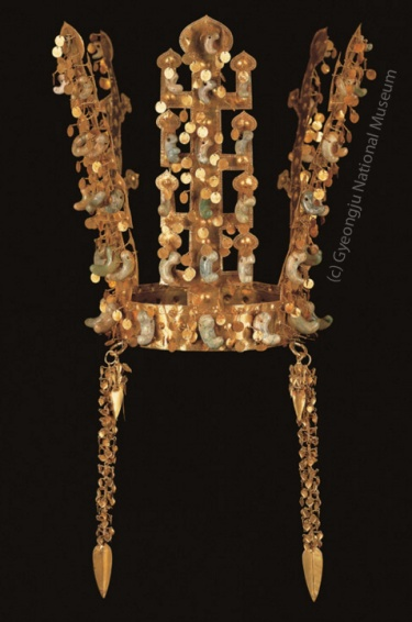 Gold Crown from Silla, Korean - source: Gyeongju National Museum