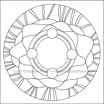 Crowning Glory Mandala by Maureen Frnak (me)