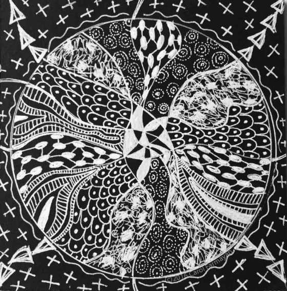 Carol Farmayan's Hand-drawn Mandala