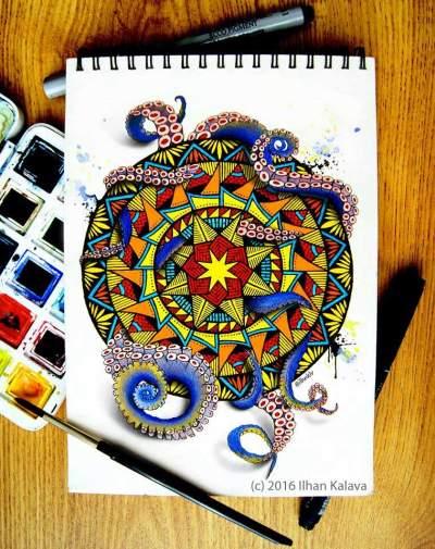 Ilhan Kalava's Hand-Drawn Mandala