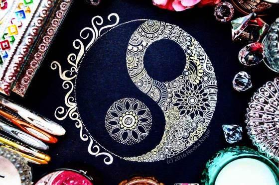 Yin Yang Mandala by Neeka Nagar