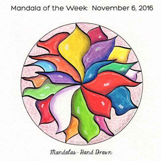 Mandalas - Hand Drawn in Color by Maureen Frank (me)