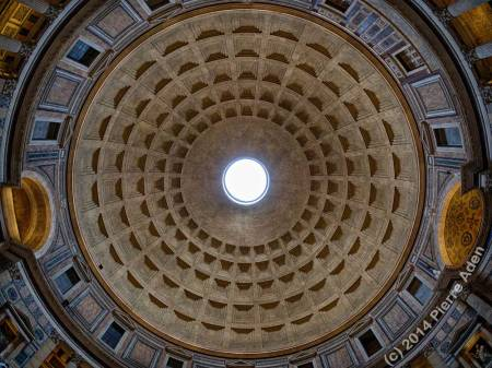 Inside Pantheon's Dome - photo by Pierre Aden
