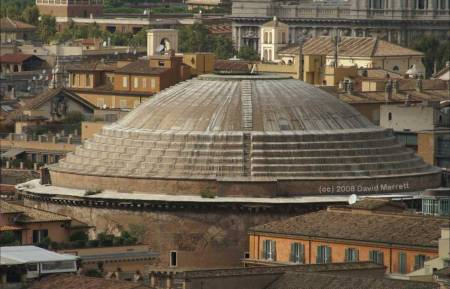 Outside view of Pantheon's Dome - photo by David Merrett