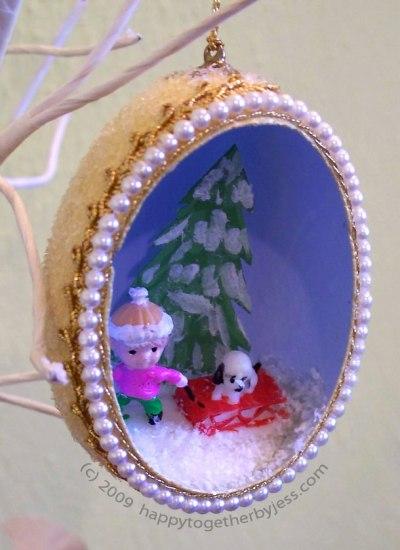 Vintage Egg Ornament by HappyTogetherbyJess.com
