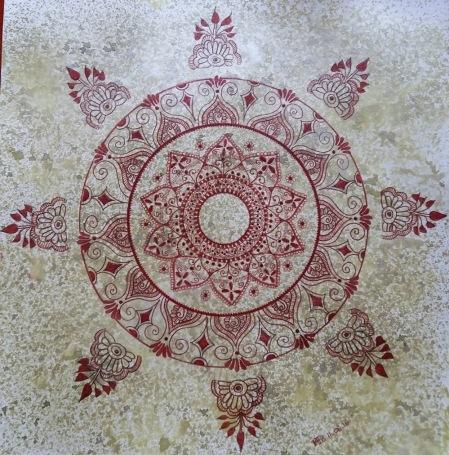 Mandala - Hand Drawn by Fabienne Tosi