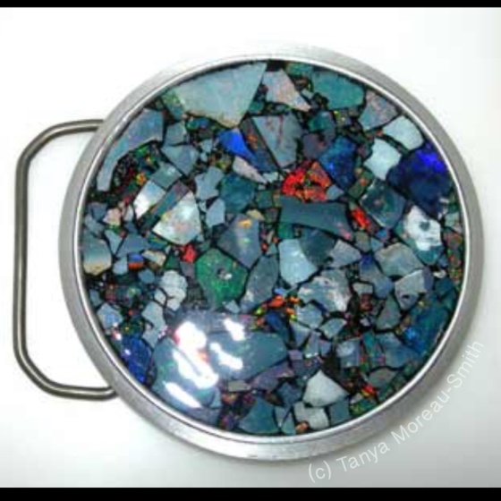 Black Opal Mosaic Buckle by Tanya Moreau-Smith