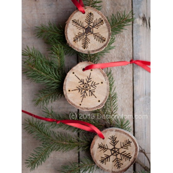 Etched Wood Ornament by DesignMom.com