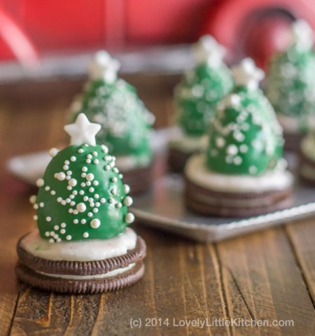 Strawberry Christmas Trees by LovelyLittleKitchen.com