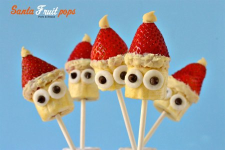 Santa Fruit Pops by ForkAndBeans.com