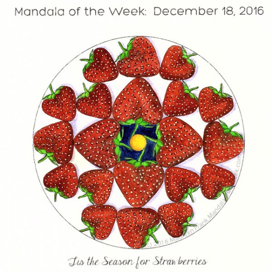 Tis the Season for Strawberries in Color by Maureen Frank (me)