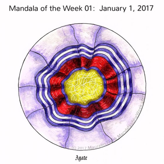 Agate Mandala in Color by Maureen Frank (me)