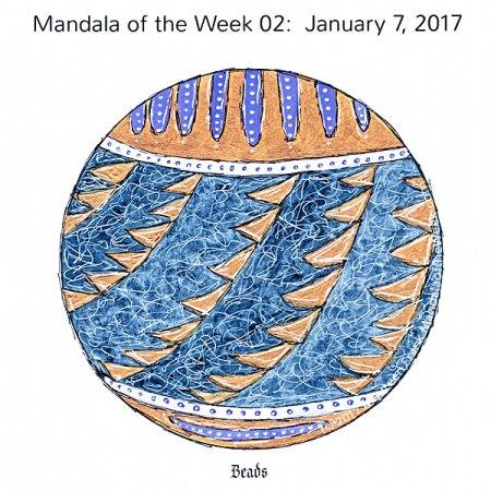 Beads Mandala in Color by me (Maureen Frank)